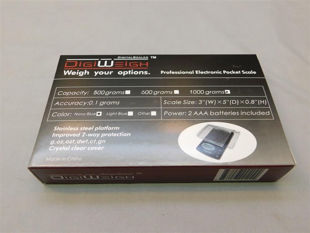 DigiWeigh DW-BX 1000g x 0.1g Digital Pocket Scales Brand New Version