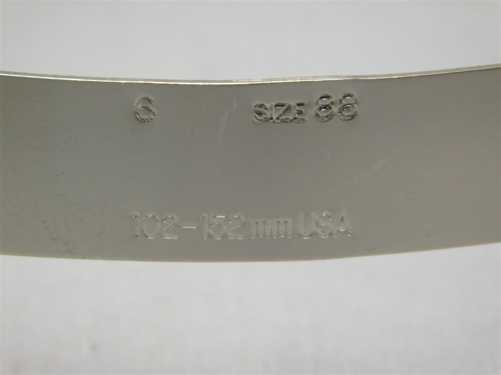 """3 SAE Size 88 4 1//16/""""-6/"""" 1//2/""""W 102-152mm Stainless Steel Worm Drive Hose Clamp"""